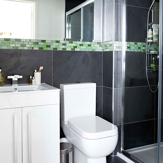 Dark-Grey-and-Green-Mosaic-Tiled-Bathroom-Style-At-Home-Housetohome