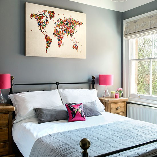 Grey-and-Fuchsia-Bedroom-Style-At-Home-Housetohome