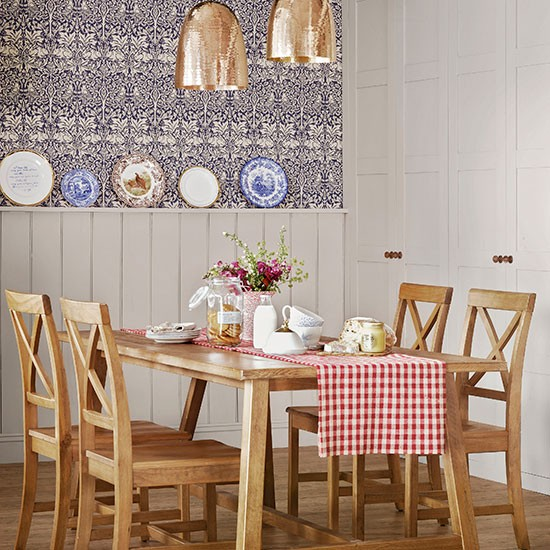 Pale-Grey-and-Gingham-Panelled-Dining-Room-Ideal-Home-Housetohome